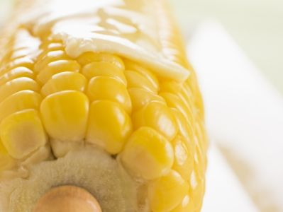Corn on the Cob with Garlic Butter, Fresh Lime, and Cotija Cheese ...