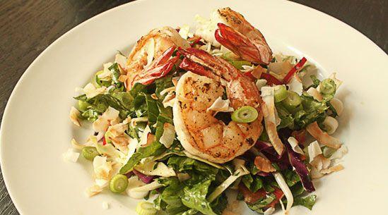 coconut shrimp salad. In the signature dish, crisp cabbage, sweet ...