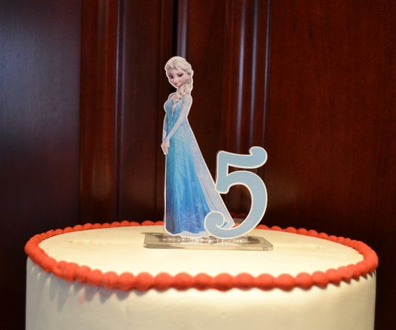 Elsa Frozen Birthday Number PERSONALIZED cake topper or ANY character