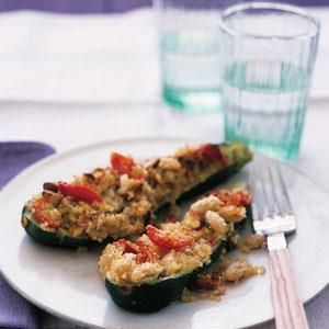 Grilled Zucchini With Quinoa Stuffing Recipes — Dishmaps