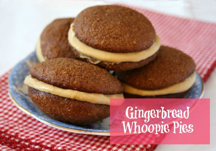 Mini Gingerbread Whoopee Pies - a soft molasses cookie sandwiched with ...