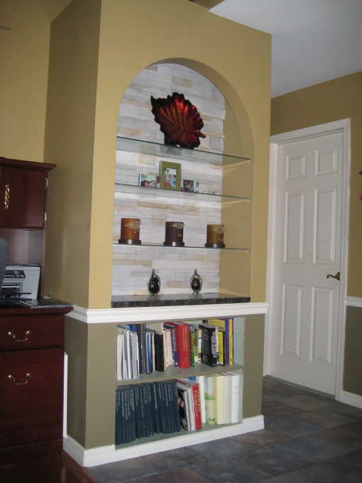 glass shelves wall niche decorating ideas pinterest