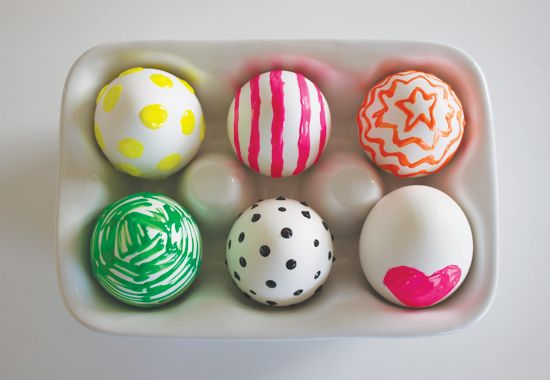 Puffy Paint Easter Eggs
