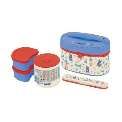moomin thermal bento lunch box set 3 food containers fork bag. Black Bedroom Furniture Sets. Home Design Ideas