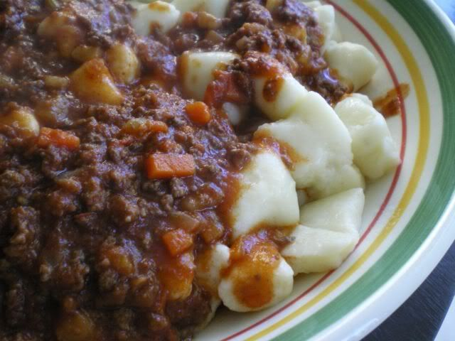 Janet Is Hungry: Gnocchi with Meat Sauce | Dinner | Pinterest