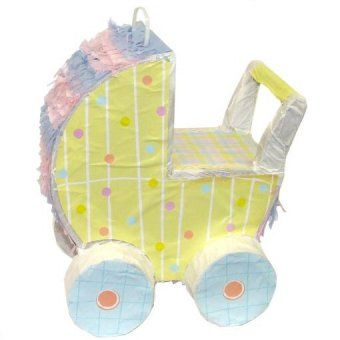 baby carriage pinata baby shower decoration ideas