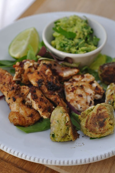 Moroccan Chicken With Chickpeas And Spicy Avocado Recipe — Dishmaps