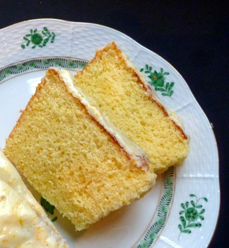 Meyer Lemon Pound Cake With Glaze--I love this Herend's plate as well!