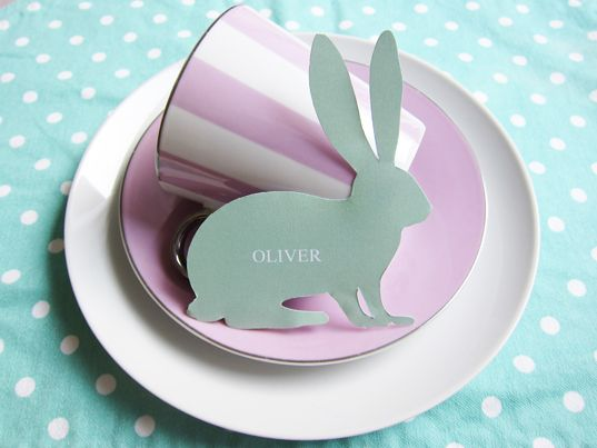 Free printable Easter place setting.