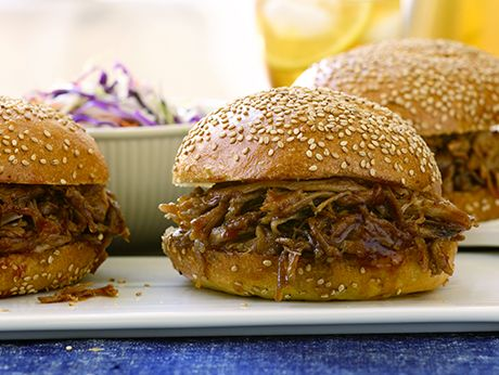 Slow-Cooked Pulled Pork Sandwiches Recipe | Epicurious.com For BBQ on ...
