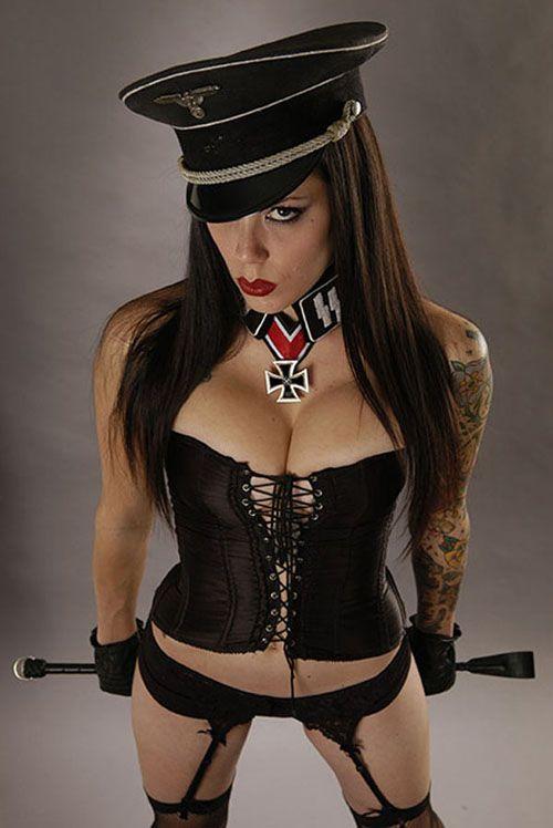 Sexy nazi girl uniform