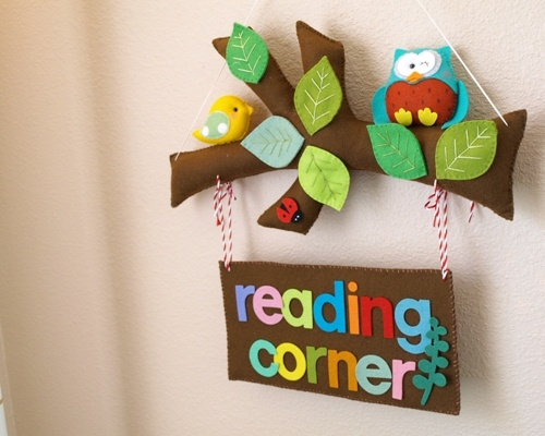 Reading corner sign.