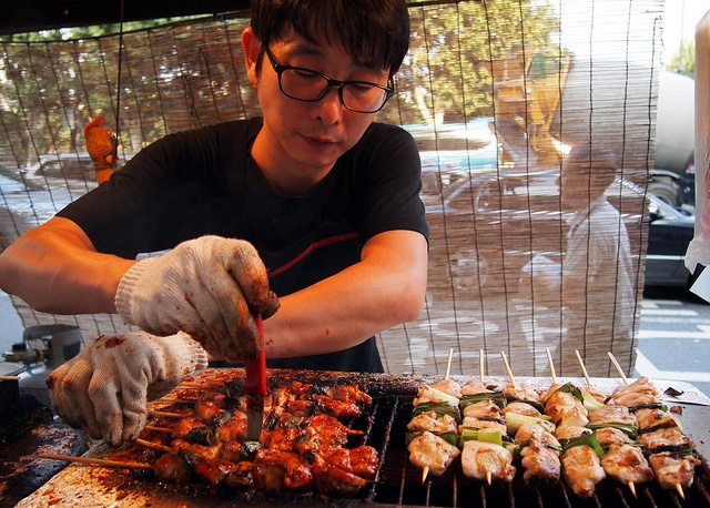 on a Stick - Dakkochi, or chicken skewers, are a popular Korean ...