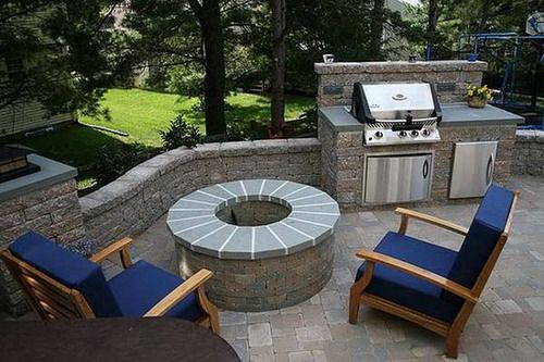 Pin by alethia garrett on home sweet home pinterest for Simple outdoor kitchen designs pictures