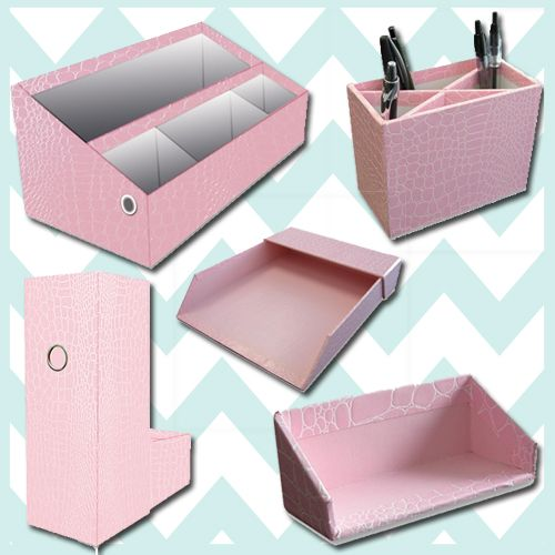 Pink desk accessories my pink office pinterest - Desk accessories and organizers ...