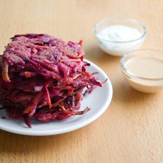 Carrot-beet latkes | Glorious food | Pinterest