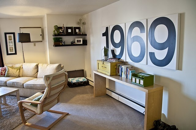 Love The Big Numbers Wall Decor Pinterest