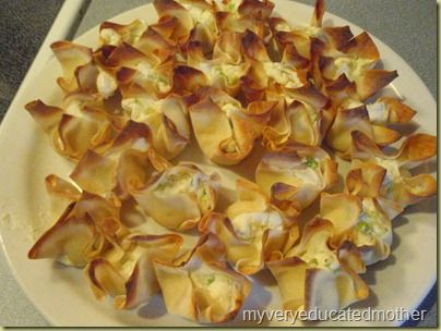 Baked Crab Rangoons-made these during our snowstorm weekend. I just ...