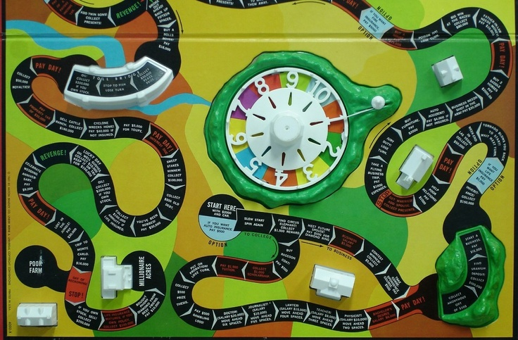 Life Game Board Spaces Pin by Scott Hall on B...