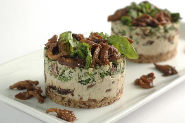 Raw Spinach Mushroom Tart. | Cookery | Pinterest