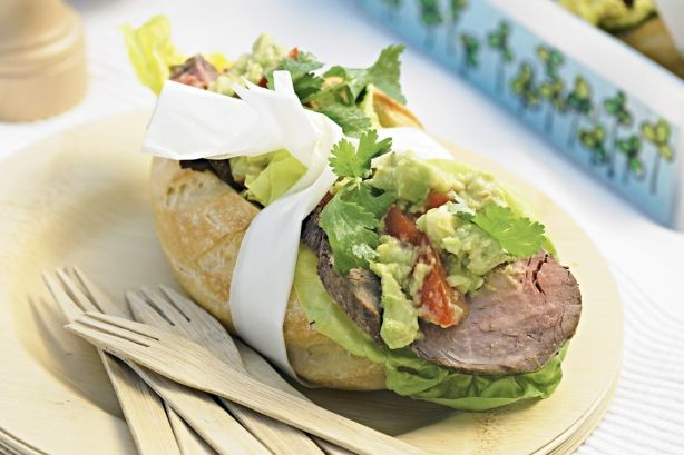 Roast beef and guacamole rolls | FOOD | Pinterest