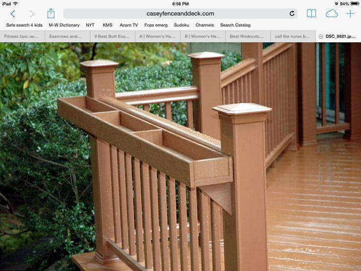 deck rail planter boxes gardening everything pinterest