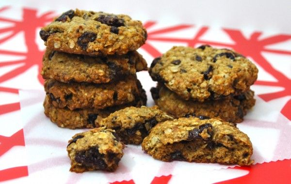 cherry chocolate oatmeal cookies- dried cherries from Benjamin Twiggs