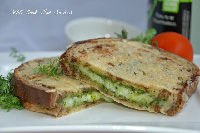 Parmesan Crusted Pesto Grilled Cheese   salty food   Pinterest