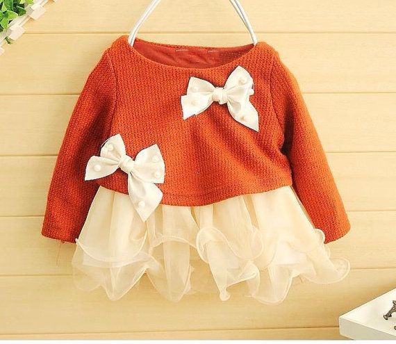 Red and off white christmas girls dress baby infant newborn for age 0