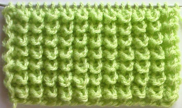 Узор ёжики для вязания на спицах