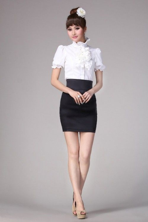 Women's Fashion A-Line Black Skirt