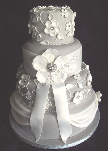 Four Tier Dress Cake by Special Day Cakes, via Flickr