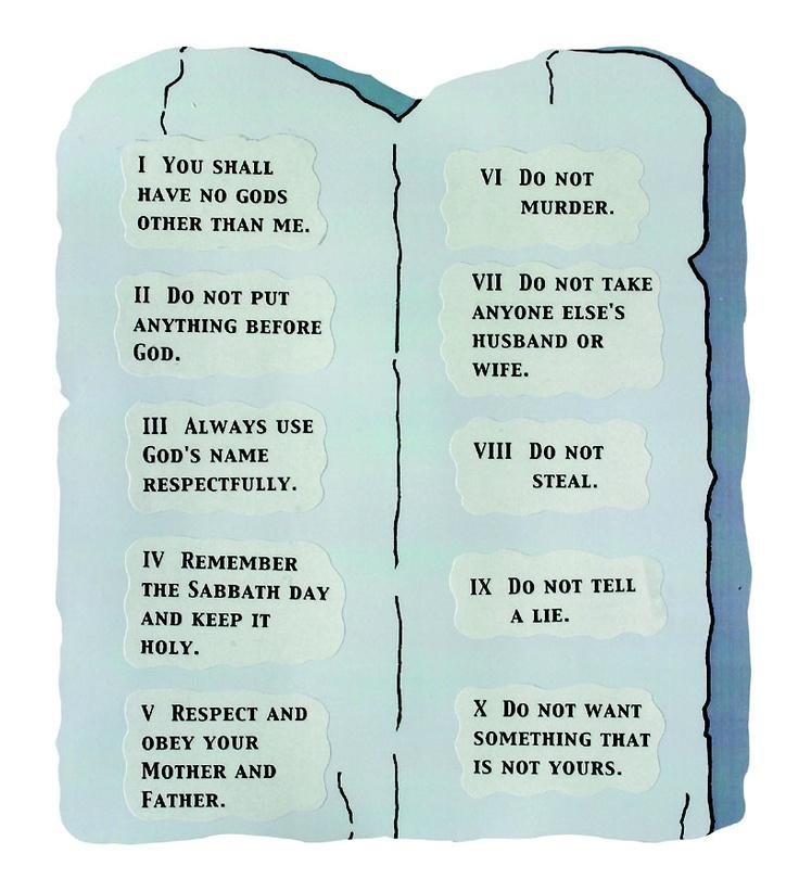 Preschool crafts 10 commandments : Ten Commandments Arts and Crafts