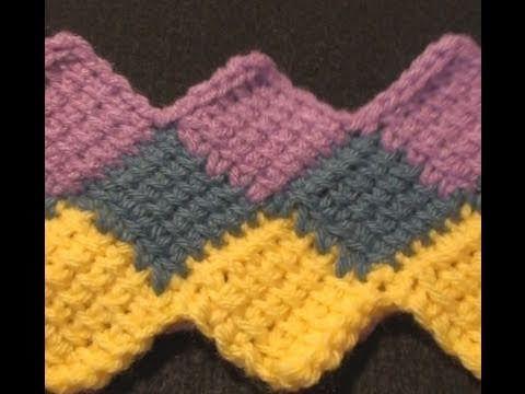 Crochet Entrelac : to do a Tunisian Crochet Entrelac Throw. Teaching the world to crochet ...