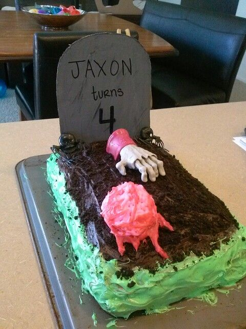 Kids Zombie Cake Ideas 100914 Homemade Zombie Cake Shells
