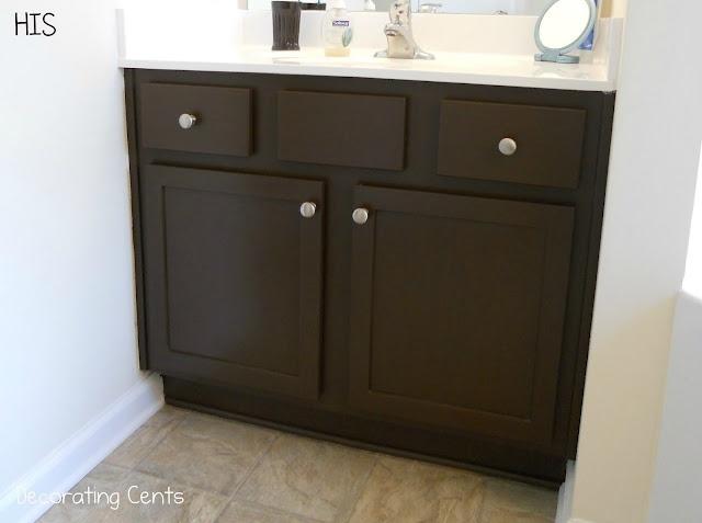 bathroom cabinet redo with rustoleum cabinet transformations