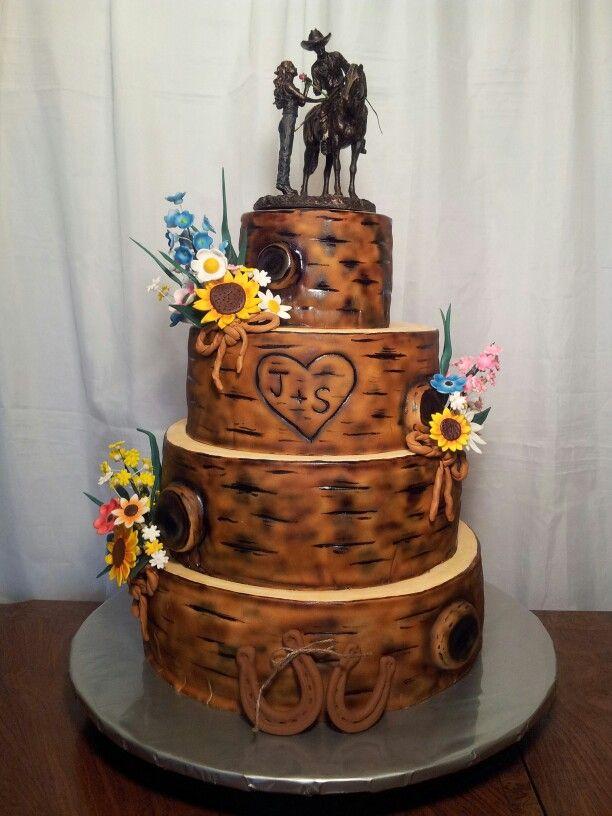Tree Bark Wedding Cake By Myrnas Yummy Cakes