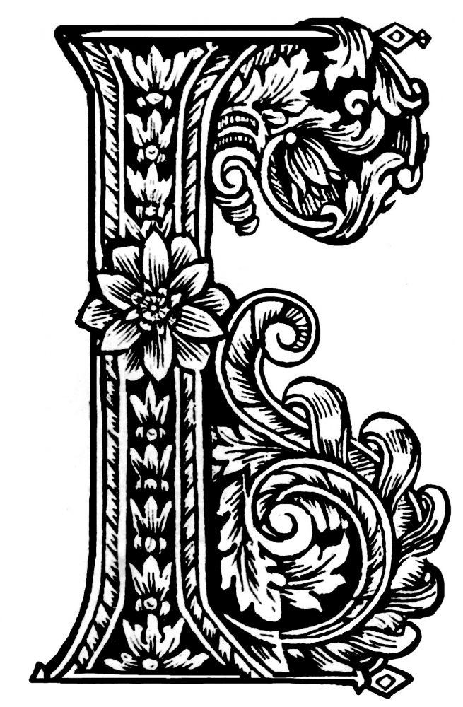 Старославянские заглавные буквы рисунки