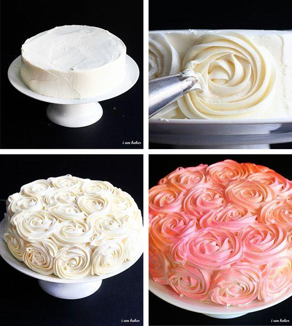 Как сделать крем на розочки для торта
