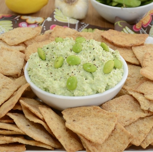 edamame dip... sounds yummy, even on a non superbowl night!