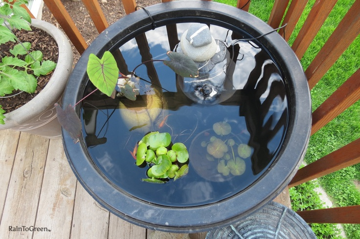 Pinterest the world s catalog of ideas for Balcony koi pond