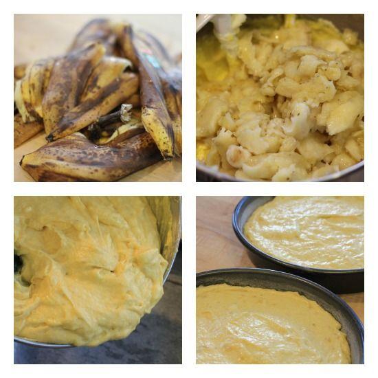 double layer banana cake recipe | BANANA CAKES | Pinterest