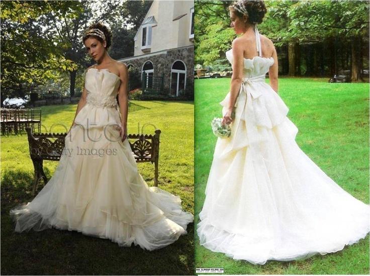 ALYSSA MILANO WEDDING DRESS Rustic Wedding Ideas Pinterest