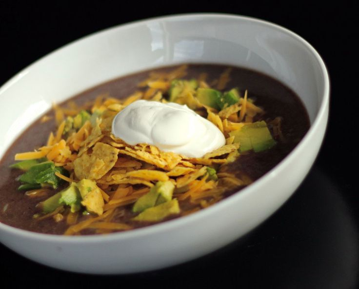 Black Bean Soup   Soups, Stews, & Chowders   Pinterest