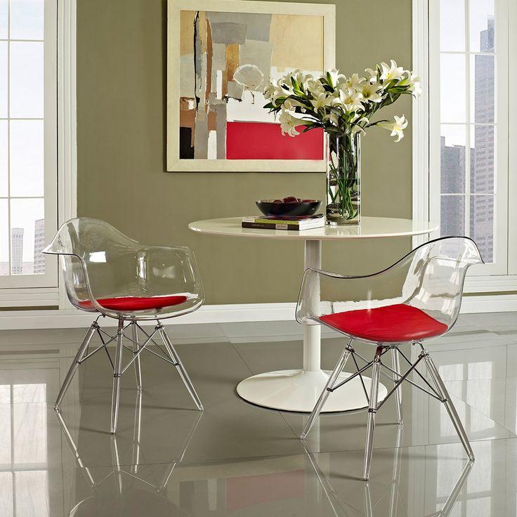 Clear acrylic molded arm chair dotandbo com 180 each x 6 for dining