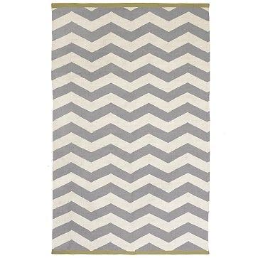 West Elm gray chevron rug
