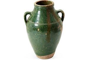 Small Green Olive Jar I