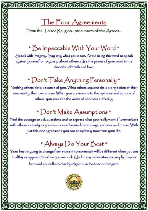 The Four Agreements Counseling And Psychology