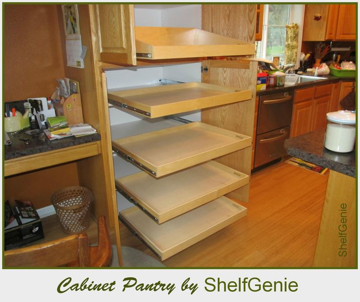Kitchen pull out shelves shelfgenie of long island roll out shelves