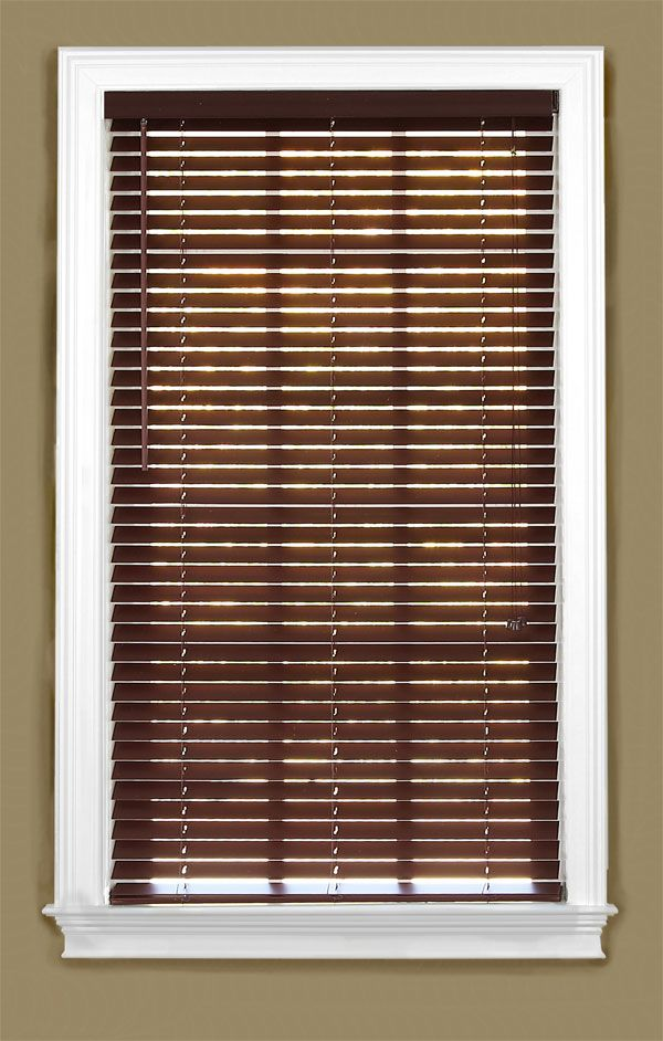 Lowes 2 inch pvc faux wood custom blinds for 2 inch faux wood window blinds